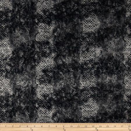 Minky Soft Onyx Cuddle Black/Silver Fabric