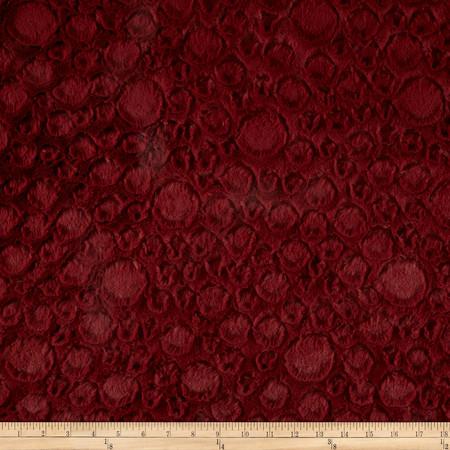 Minky Soft Stone Cuddle Garnet Fabric