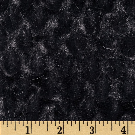 Minky Soft Tile Cuddle Black Fabric