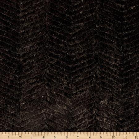 Minky Soft Ziggy Cuddle Black Fabric By The Yard