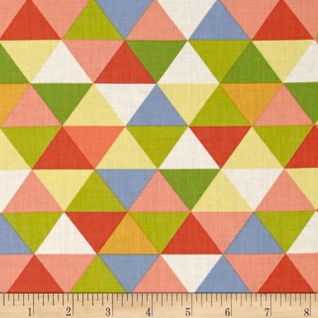 Moda Bartholo-meows Reef Triangles Briny Kelp Fabric By The Yard