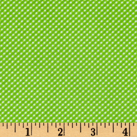 Moda Brighten Up! Gingham Up Green Fabric By The Yard