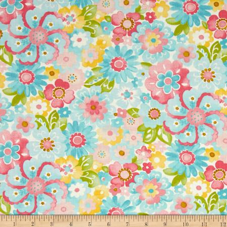 Moda Colette Blossom Sky Fabric