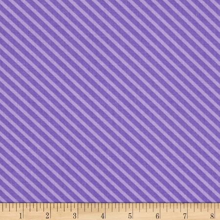 Moda Dot .Dot.Dash-! Diagonal Stripe Purple Fabric