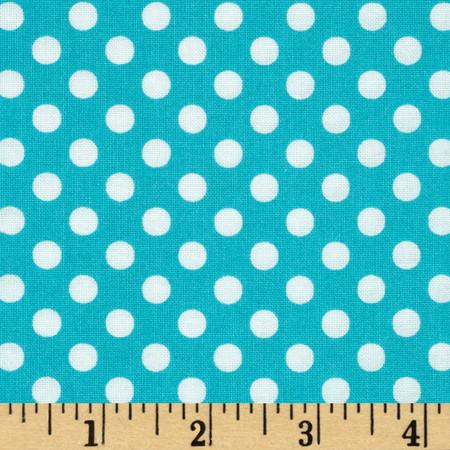 Moda Dot .Dot.Dash-! Dots Everywhere Turquoise Fabric