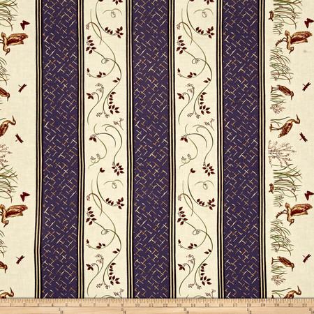 Moda Enchanted Pond Purple Dusk Fabric By The Yard