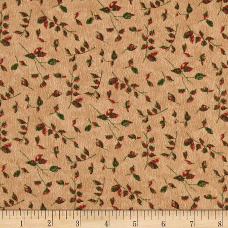 Moda Endangered Sanctuary Flannel Petite Leaves Pecan Fabric By The Yard