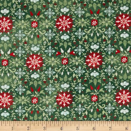 Moda Evergreen All is Bright Evergreen Fabric