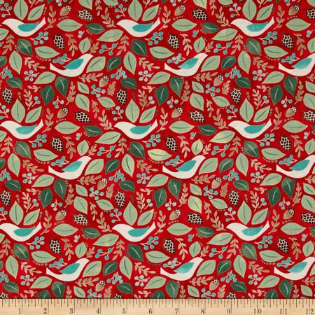 Moda Evergreen Good Will Cherry Fabric