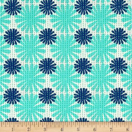 Moda Good Karma Burst Aqua - Navy Fabric