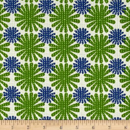 Moda Good Karma Burst Green - Navy Fabric