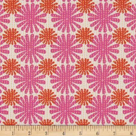 Moda Good Karma Burst Pink - Coral Fabric