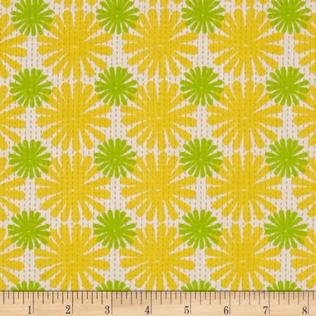 Moda Good Karma Burst Yellow - Green Fabric