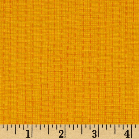 Moda Good Karma Stitch Yellow Fabric