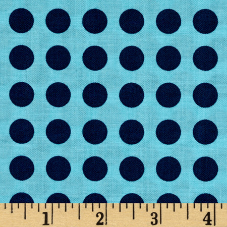 Moda Gooseberry Polka Dots Sky/Navy Fabric
