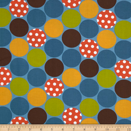 Moda Happy Sunshine Happy Dots Lake Fabric