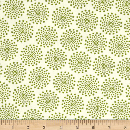 Moda Holly's Tree Farm Stardust Grass Fabric