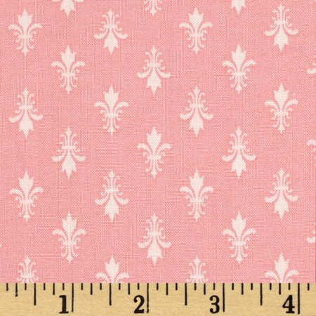 Moda Kindred Spirits Fleur De Lis Rose Fabric