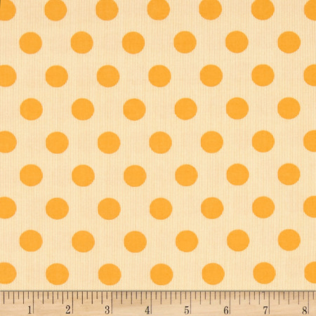 Moda Mama Said Sew Dot Tangerine Fabric By The Yard