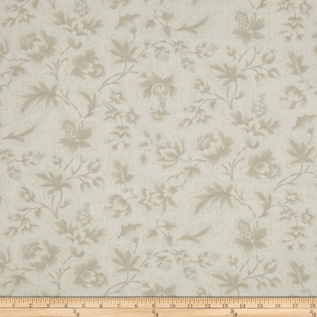 Moda Midnight Clear 108'' Wide Quilt Back Jacobean Damask Starlight Fabric By The Yard