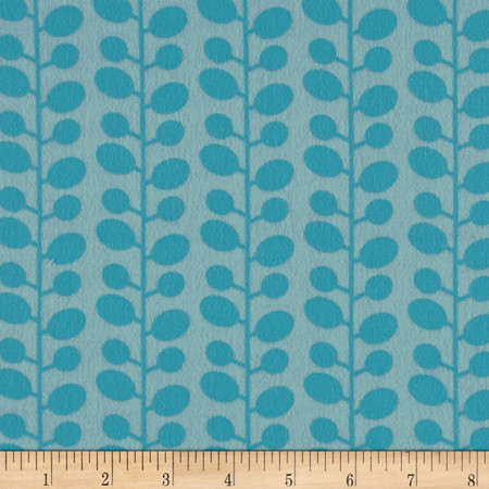 Moda Mixed Bag Flannel Bean Stalk Sky Fabric By The Yard