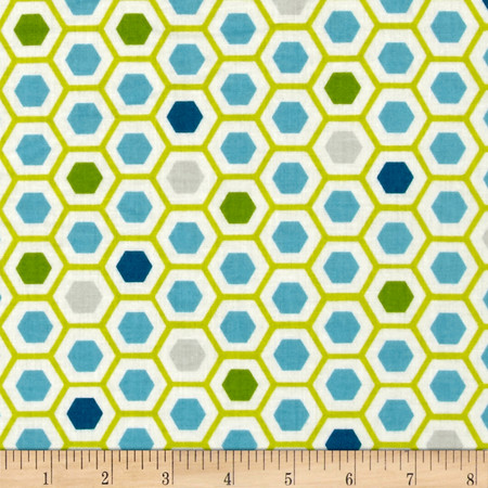 Moda Mixed Bag Flannel Hexy Sweet Pea Fabric By The Yard