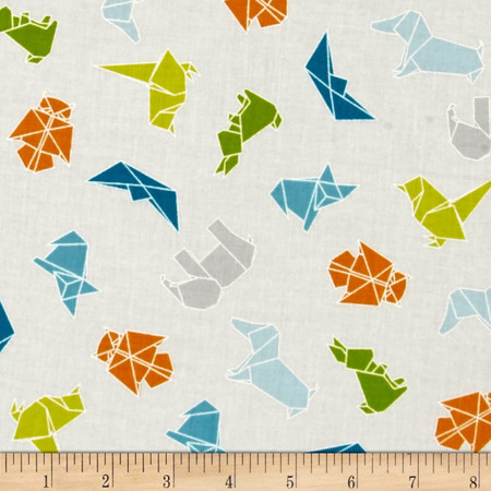 Moda Mixed Bag Flannel Origami Sprouts Fabric By The Yard