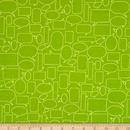 Moda Mixed Bag Flannel Quote This Grass Fabric By The Yard