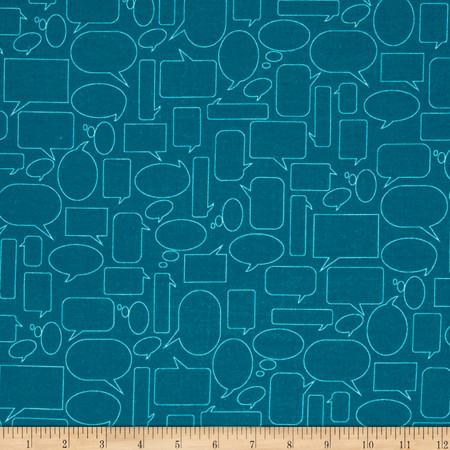Moda Mixed Bag Flannel Quote This Teal Fabric By The Yard