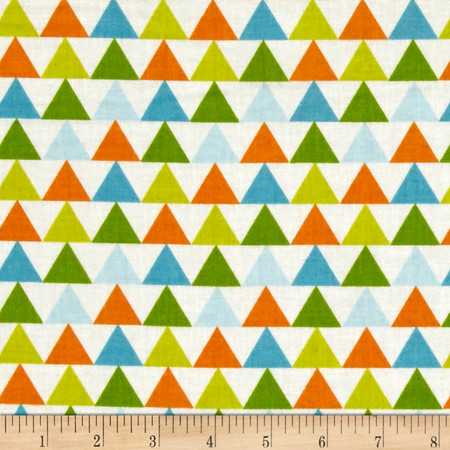 Moda Mixed Bag Flannel Tee Pee Sprouts Fabric By The Yard