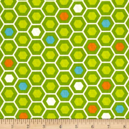 Moda Mixed Bag Hexy Grass Fabric By The Yard