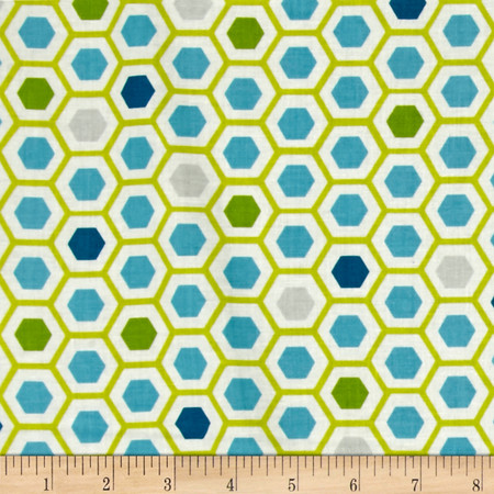 Moda Mixed Bag Hexy Sweet Pea Fabric By The Yard