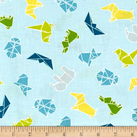 Moda Mixed Bag Origami Sky Fabric By The Yard