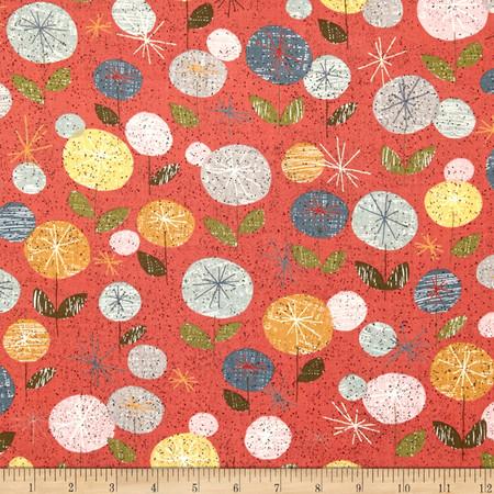 Moda Mon Ami Fleur Rouge Fabric