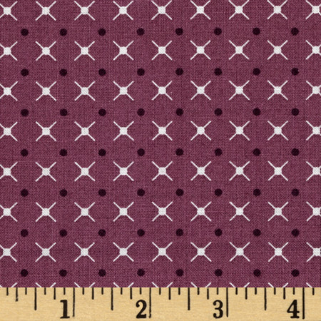Moda Simply Colorful II XOXO Mauve Fabric