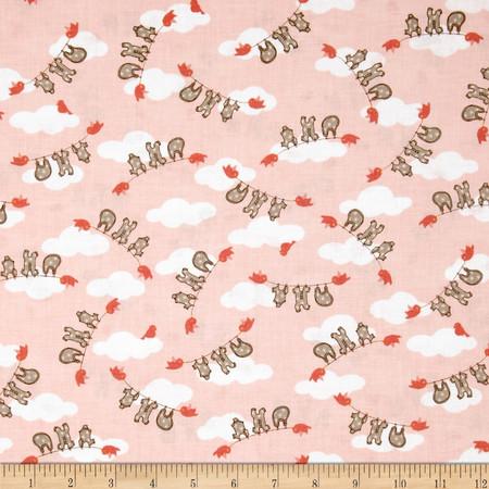 Moda Storybook Clothesline Peach Fabric