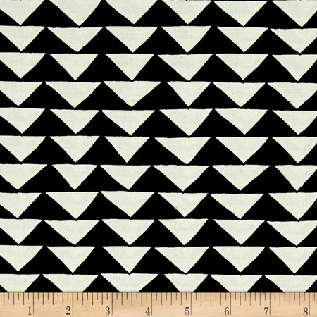 Moda Thicket Triangles Black/Natural Fabric By The Yard