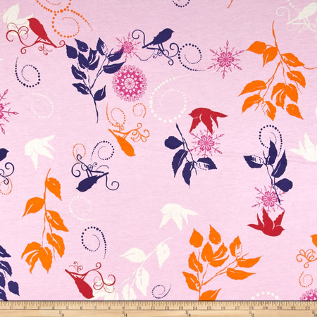 Modal Cotton Jersey Knit Sparrow Pink Fabric