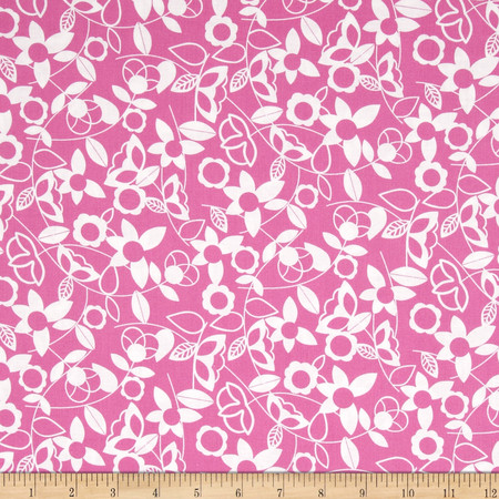 Modern Mixers Floral Pink Fabric