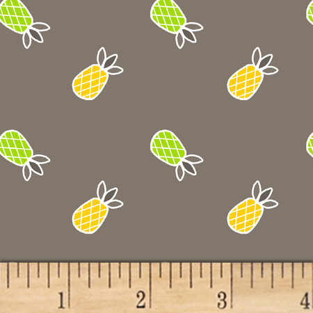 Mojito Pineapples Mist Fabric By The Yard