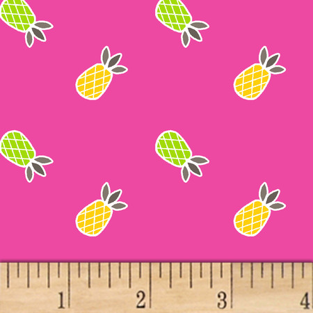 Mojito Pineapples Raspberry Fabric By The Yard