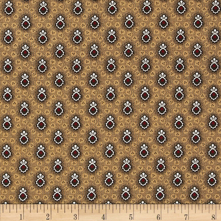 Molly B's 1800's Simply Christmas Foulard Golden Fabric