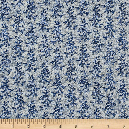 Molly B's Modern Branches Light Blue Fabric