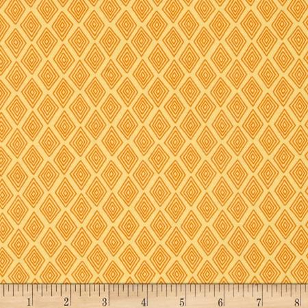 Monkey Mates Small Diamonds Yellow/Orange Fabric