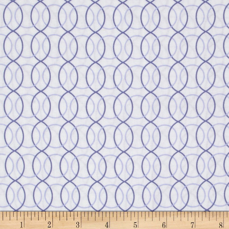Monterey Circle Geo Periwinkle Blue Fabric