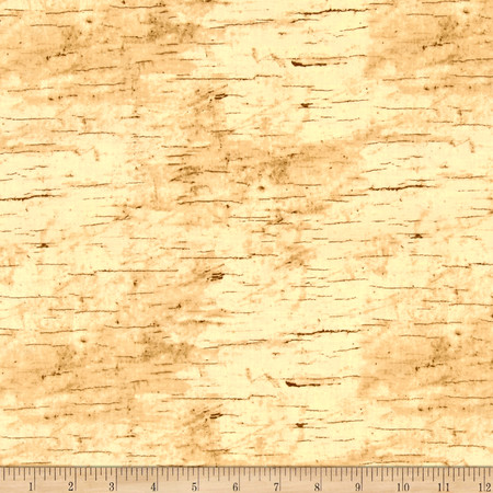 Moose Lodge Wood Texture Beige Fabric By The Yard