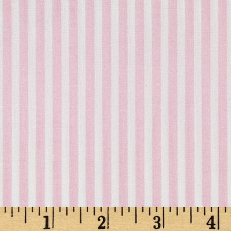 Telio Morocco Blues Stretch Cotton Shirting Baby/Pink/White Fabric By The Yard