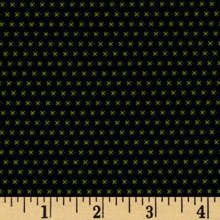 Telio Morocco Blues Stretch Cotton Shirting Diamond X Print Green/Blue Fabric By The Yard
