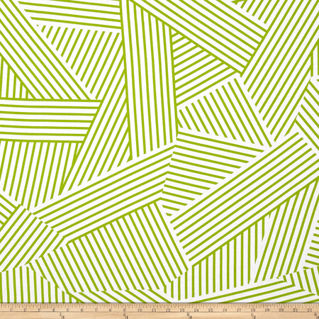 Mostly Manor Stripe Green Fabric By The Yard