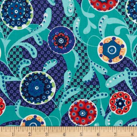 Mulberry Bushel Azure Fabric